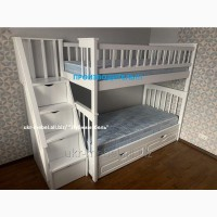Двухъярусная деревянная кровать Щит Плюс, двоярусне ліжко