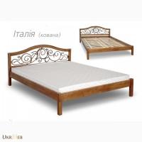 Ліжко з ковкою дерево 1, 8*2 є в наявності