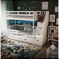 Кровать двухъярусная деревянная Анта, двоярусне (двоповерхове) ліжко