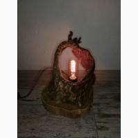 Світильник ручної роботи з дерева ( LOFT)