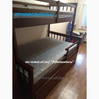 Кровать двухъярусная деревянная Магелан, двоярусне (двоповерхове) ліжко