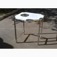 Стол производственный разделочный с отверстием для мусора из нержавейки
