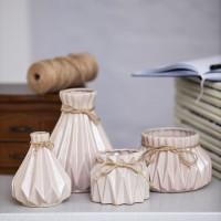 Набор керамических декоративных ваз Алхимия белые
