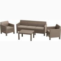 Orlando Set With 3 Seat Sofa мебель из искусственного ротанга