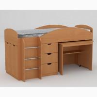 Детская кровать со столом в комплекте
