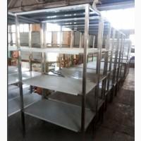 Стеллаж 4 полки производственный нержавеющая сталь (AISI 201)