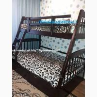 Кровать двухъярусная деревянная Каспер, двоярусне (двоповерхове) ліжко