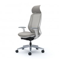 Кресло офисное OKAMURA SYLPHY Light Grey полированное
