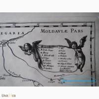 Офорт гравюра Карта Украины картина эстамп