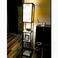 Комнатный стеллаж с подсветкой в стиле Лофт