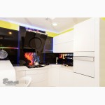 Дизайнерские кухни в стиле модерн без ручек МДФ