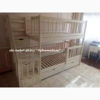 Кровать двухъярусная деревянная Фор, двоярусне (двоповерхове) ліжко