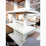 Столы деревянные белые низкие б/у