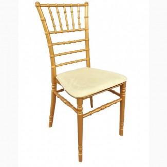 Банкетный стул Чиавари, золотой, с мягкой подушкой из спандекса