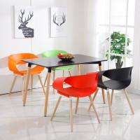 Стол обеденный Нури, 80*80 см, цвет белый, черный