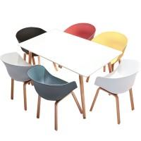 Стол обеденный Нури, 120*80 см, цвет черный, белый