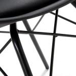 Стул Тау белый, пластиковый, мягкая подушка, на металлических ножках, черный