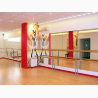 Зеркала в танцевальный, тренажерные залы, установка в Киеве