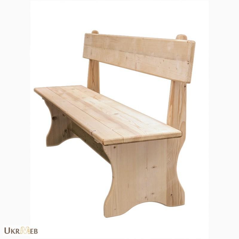 Скамейка своими руками из дерева со спинкой в баню 30