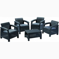 Corfu Quattro Set голландська мебель из искусственного ротанга