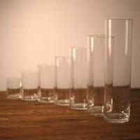 Стеклянные колбы, стеклянные вазы, подсвечники