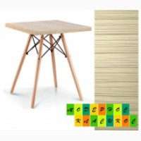 Стол обеденный ТауэрND60, квадратный, цвет натуральный дуб