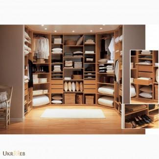 Изготовление гардеробных комнат на заказ в Киеве