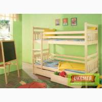 Детская деревяная двухъярусная кровать Колобок