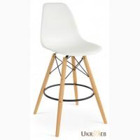 Высокий барный стул Тауэр Вуд (Tower Wood) на деревянных ногах для стоек дома, кафе, офиса