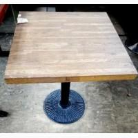 Продам стол б/у с круглой чугунной ножкой