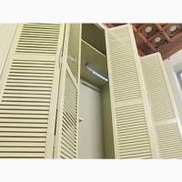 Жалюзийные двери-гармошкой, складные двери деревянные