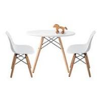 Детский столик (журнальный столик) дерево белый Тауэр вуд
