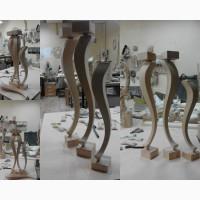 Изогнутые резные ножки точеные опоры из дерева для стола журнального столика консоли