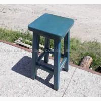 Барный стул б/у в кафе ресторан деревянный синий, барная мебель бу
