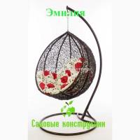 Садовое плетеное кресло-кокон