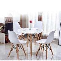 Стол обеденный Тауэр Вуд, столешница 80 см дерево, цвет белый, черный