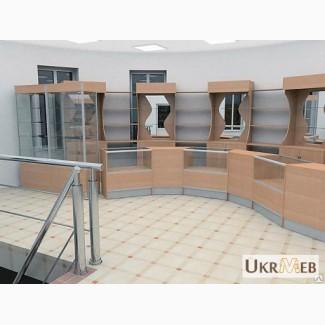 Прилавки, стеллажи, витрины, торговое оборудование для магазинов, аптек, качественно