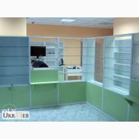 Мебель для аптек, стеллажи, прилавки, витрины, качественно, недорого