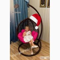 Плетеное кресло-кокон из ротанга. Подвесное кресло. Бесплатная доставка