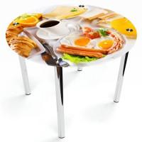 Стеклянный обеденный стол Круглый