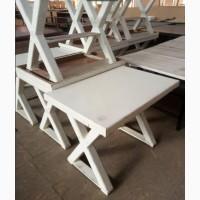 Стол деревянный б/у белого цвета массив дуба