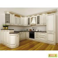 Кухня классическая в цвете Ваниль патина золотом