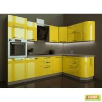 Кухня Грейд в цвете Желтый глянец