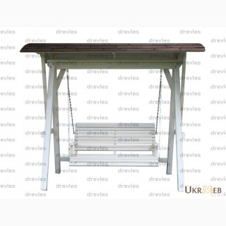 Качеля деревянная с маленькой крышей / К-2