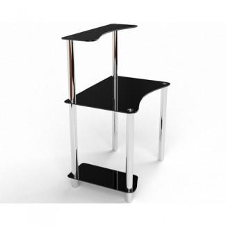 Стеклянный компьютерный стол Геометрия