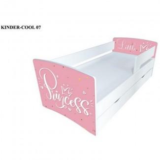 Кровать детская Kinder-Cool Принцесс с бортиками для девочки без ящика