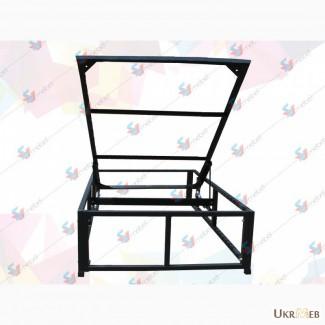 Рамка односпальной кровати с подъемным механизмом и металлическим основанием