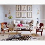 Шкура зебры из ЮАР - атрибут африканского сафари. Африканский дизайн интерьера