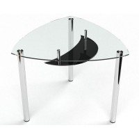 Стеклянный обеденный стол Луна