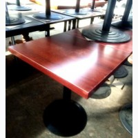 Стол б/у ДСП нога металлическая цвет махагон